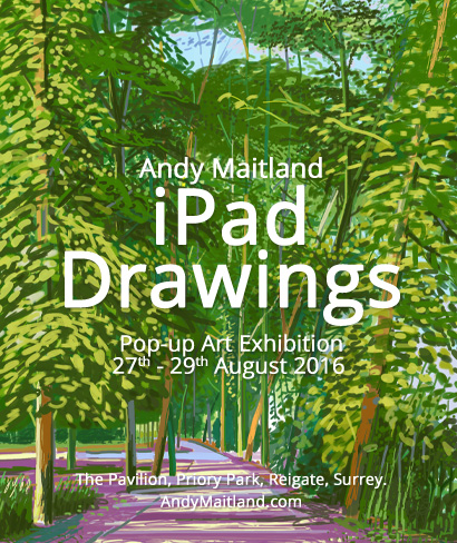 August 2016 iPad Drawings Art Exhibition (by artist Andy Maitland)