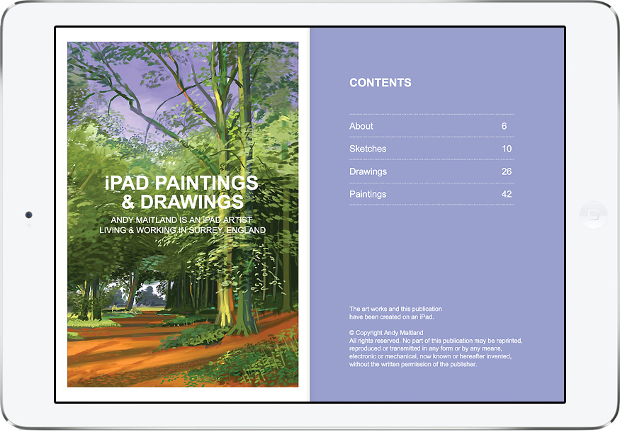 "ipad art landscape, ""iPad paintings and drawings"" book by iPad Artist Andy Maitland"