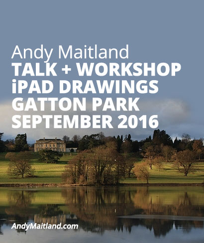 2016 iPad Drawings Art Workshops with iPad Artist Andy Maitland