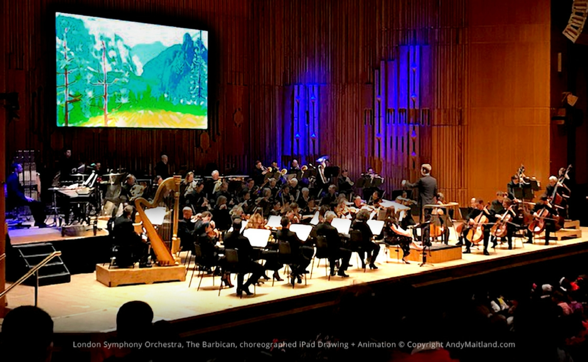 Andy Maitland iPad Drawing and Animation commisssion by the London Symphony Orchestra, 2019, UK