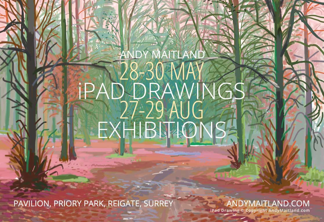 Forthcoming iPad Drawings Exhibitions Andy Maitland