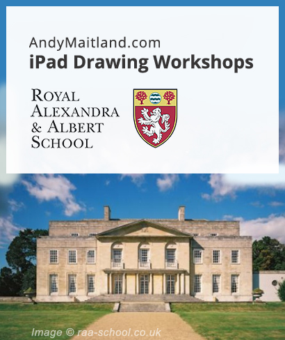 iPad Art Workshops Royal Alexandra and Albert School Gatton Park Reigate Surrey UK 2016