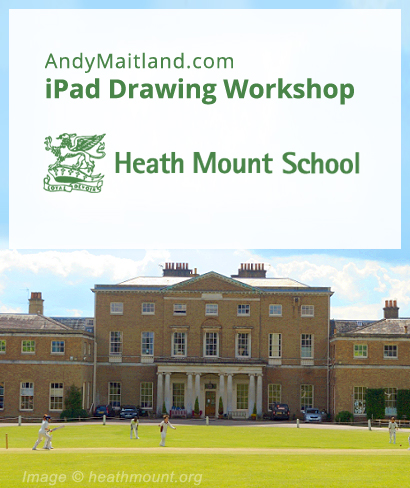 iPad art education in schools, London, UK 2015