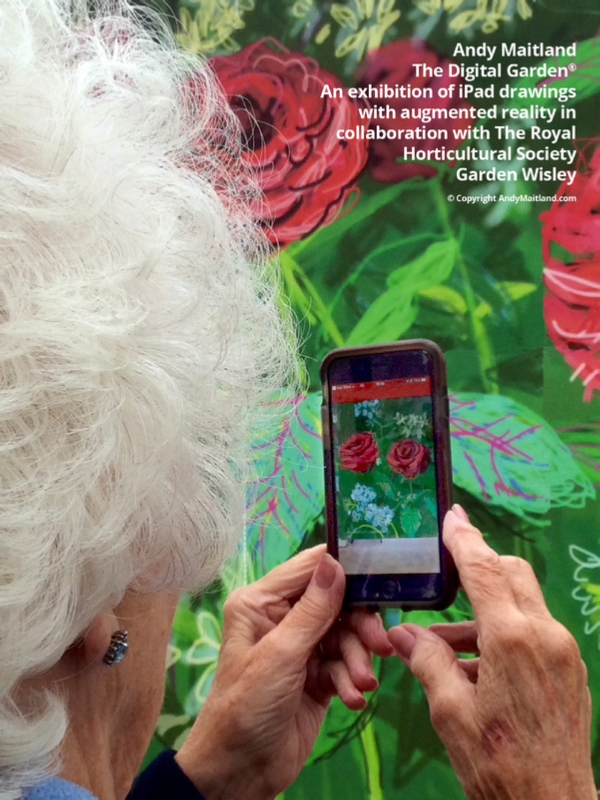 iPad art exhibition with augmented reality