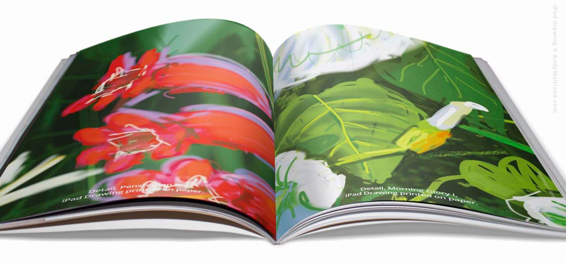 Publications, Print and digital books by Andy Maitland, iPad Artist.
