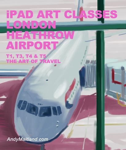 iPad art classes at London Heathrow Airport