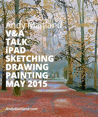 Digital Art wokshop, iPad art landscapes, V&A, London, UK, 7 February 2015